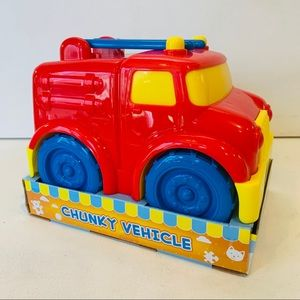 NEW Boley Fire Truck Plastic Toy Truck for Toddler